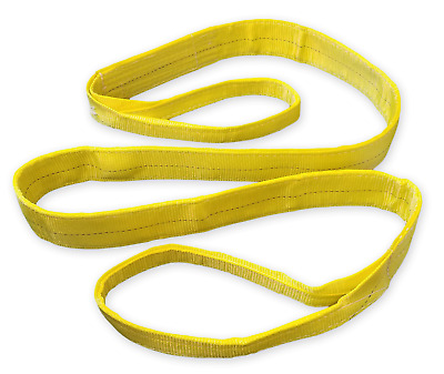 NYLON SLING EE1-901x10FT TOW AXLE CLEVIS SHACKLE DOLLY WRECKER TIE DOWN CRANE