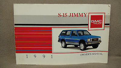 1991 GMC S-15 JIMMY OWNER'S MANUAL USER GUIDE OPERATING MANUAL