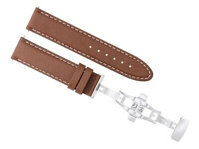 20Mm Pam Leather Watch Band Smooth Strap Deploy Clasp For Panerai Tan Brown Ws 2
