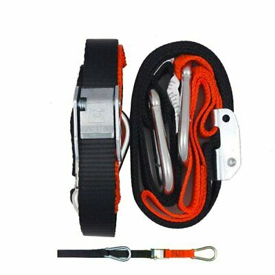 GORILLAS GRIP TIE DOWNS  -  TD3BO   25mm ORANGE / BLACK - SNAP HOOK/S HOOK