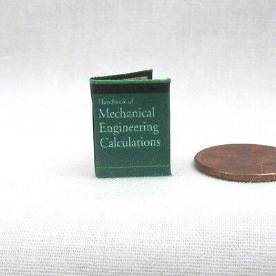HANDBOOK of MECHANICAL ENGINEERING Calculations Miniature Book 1:12 Scale