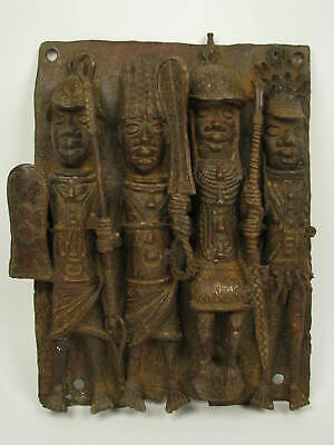 GothamGallery Fine African Art - Nigeria Benin Palace Plaque Court of Benin P