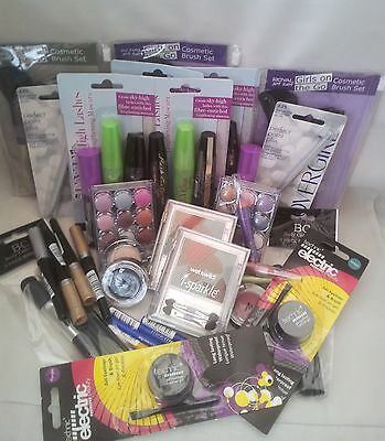 4x MIXED BRANDED EYE- MAKE UP WHOLESALE BUNDLE WITH COSMETIC BRUSHES