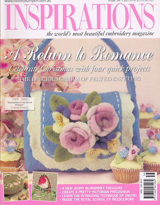 Inspirations Issue #56 Embroidery Magazine Sewing Inc Patterns - New