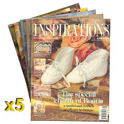 5 Pack #1 of New Inspirations Magazines Inc Patterns Sewing Free Postage +Bonus