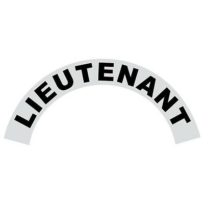 Lieutenant Black Helmet Crescent Reflective Decal Sticker