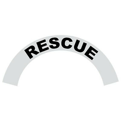 Rescue Black Helmet Crescent Reflective Decal Sticker