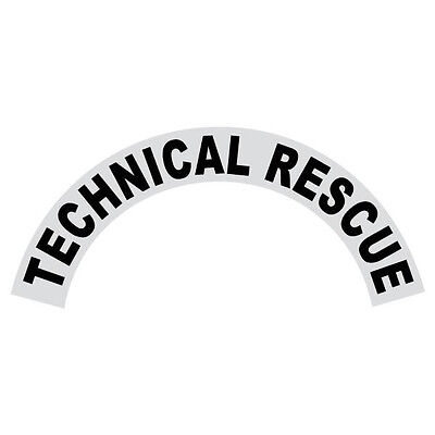 Technical Rescue Black Helmet Crescent Reflective Decal Sticker