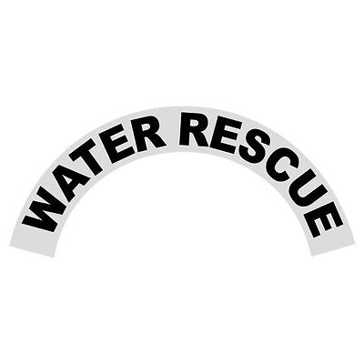 Water Rescue Black Helmet Crescent Reflective Decal Sticker