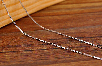 NEW Pure Solid 925 Sterling Silver Box Chain Necklace Italy