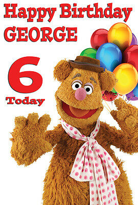 LARGE MUPPETS GONZO BIRTHDAY POSTER BANNER PERSONALISED ANY COLOUR NAME TEXT