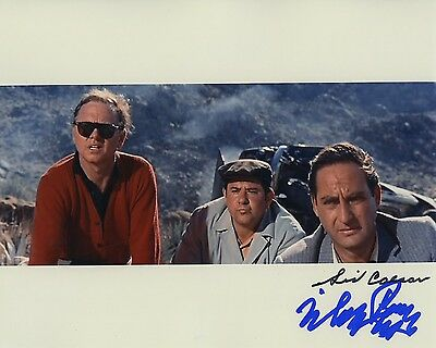 Mickey Rooney & Sid Caesar Signed Autographed It's A Mad Mad Mad Mad World Photo