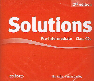 Oxford SOLUTIONS 2nd Edition Pre-Intermediate Class CDs | Falla Davies @NEW@