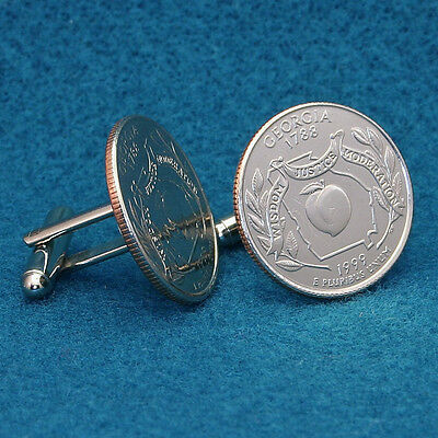 American State Quarter Cufflinks, Select any State, 1999-2009, Hand Made in USA