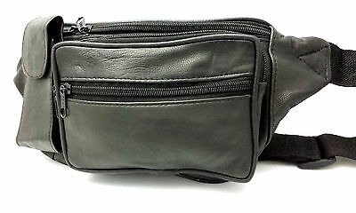Bum Bag Money Belt Real leather Waist Pouch Travel BumBag Holiday