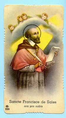SANTINO ANTICO  SAN FRANCESCO di SALES  IMAGE PIEUSE - HOLY CARD SANTINI
