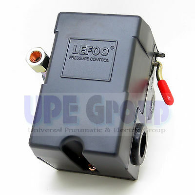 New Air Compressor Pressure Control Switch Single Port 95-125 With Unloader