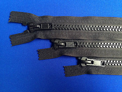 Zip Closed Ended 10 Weight Non Rust Metal Slider Plastic Teeth Chunky Heavy Duty
