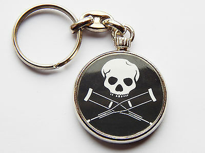 JACKASS Comedy Prank Film Movie Quality Chrome Keyring Picture on Both Sides!