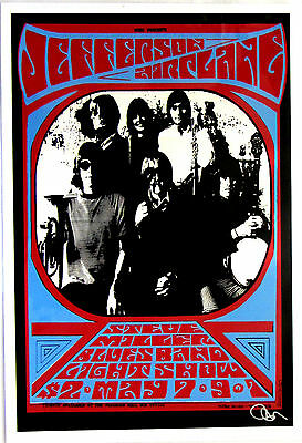 Jefferson Airplane / Steve Miller - UC Davis 1967 * Thomas Morris Art Print