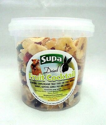 Dried Fruit Cocktail Treat for Rabbits Guinea Pigs Hamsters Gerbils 1000ml 1L