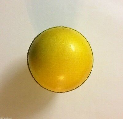 2 Piece Yellow Indoor Cricket Ball - Alum Tanned Water Resistant 1x/2x/3x/6x/12x
