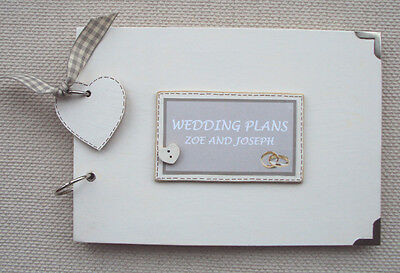 Personalised Wedding Plans Journal.. .a5 Size  Photo Album/scrapbook/memory Book