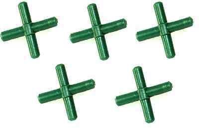 5x Air Line Cross Connectors 4 way Crosses For Connecting Aquarium Airline x5