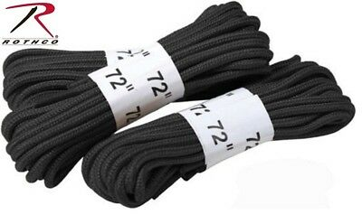 """Black Boot Laces 72"""" Nylon Black Military Boot Laces (3 Pack) Rothco 61913"""