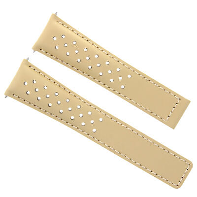 20/16Mm Leather Band Strap Clasp 20Mm For Tag Heuer Monza Watch Perforated Tan