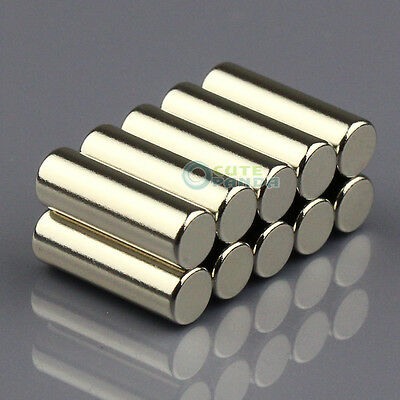 10pcs N50 Super Strong Round Cylinder Magnet 5 x 15mm Rare Earth Neodymium