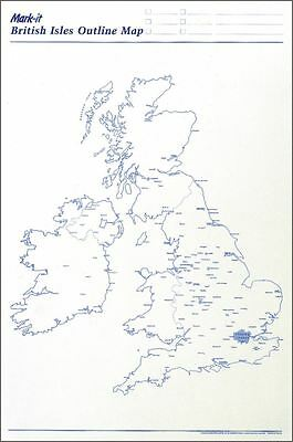 Uk Outline Map Planner For Schools