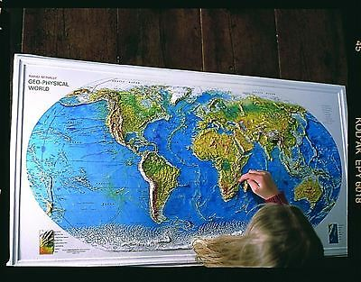 Geophysical World Map For Schools