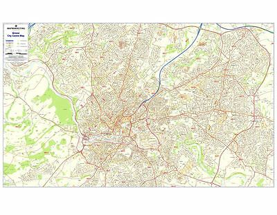 Postcode City Sector Maps 1 Bristol - Laminated Wall Map For Business