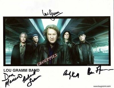 LOU GRAMM BAND Signed Autograph 8x10 Photo RP, FOREIGNER