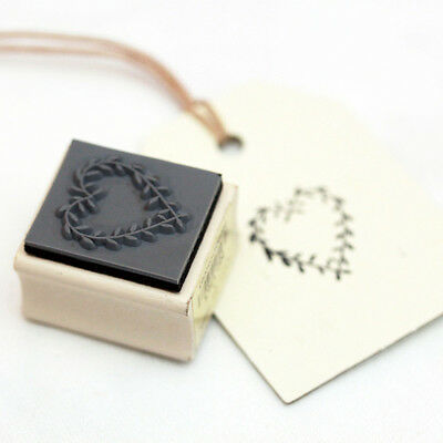 East of India Heart Wooden Rubber Stamp - Craft / Wedding Favour