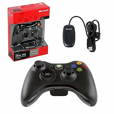 Microsoft Official Xbox 360 Wireless Controller Gamepad For Windows Pc / Laptop