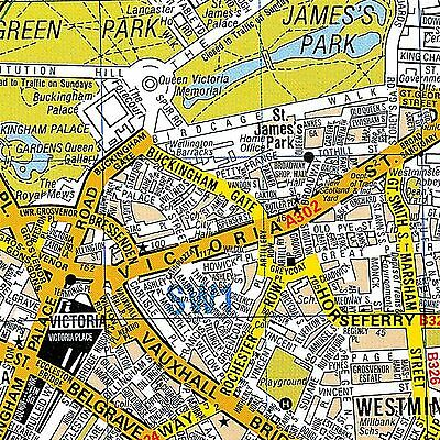A-Z Premier Map London Laminated Wall Map For Business