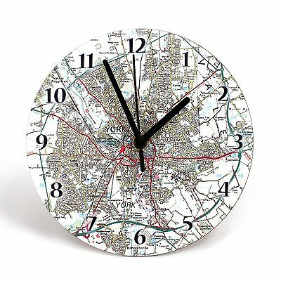 Personalised Map Clock (30 cm) - Gift