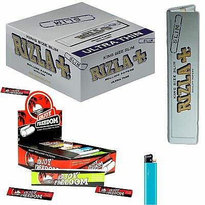 CARTINE LUNGHE RIZLA SILVER Slim 1600 (Box) + Filtri di carta Enjoy Freedom 1600