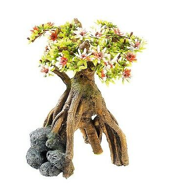 Bonsai Tree & Arched Roots Aquarium Plant Ornament Reptile Vivarium Decoration