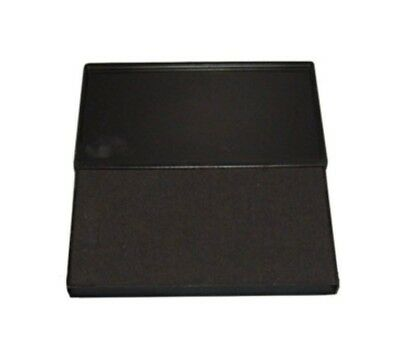 "Large BLACK Rubber Stamp Felt Ink Pad Size #2 (6-1/4"" x 3-1/4"")"