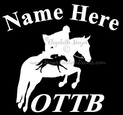 You Choose Color OTTB Heartbeat Dressage Horse Decal Sticker Off Track TB
