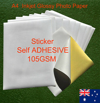 20 sheets A4 105GSM Inkjet and Laser Glossy Label Paper Sticker Adhesive