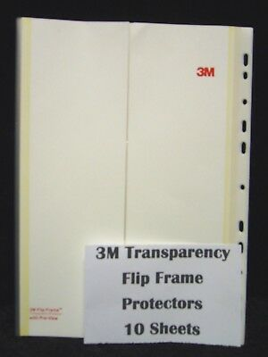 10 x 3M Flip Frame Transparency Protectors with preview flaps Transparencies