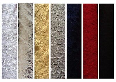 """Quality (corded) Lace dress fabric; non-stretch @ £7.95/m 1.47m / 58"""" wide"""