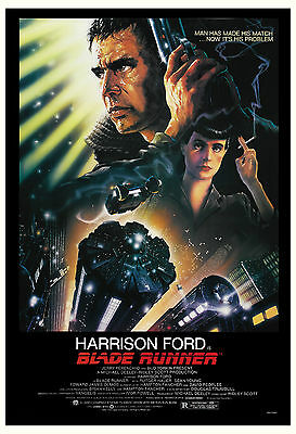1980's Sci-Fi * Blade Runner *  Harrison Ford USA Movie Poster 1982