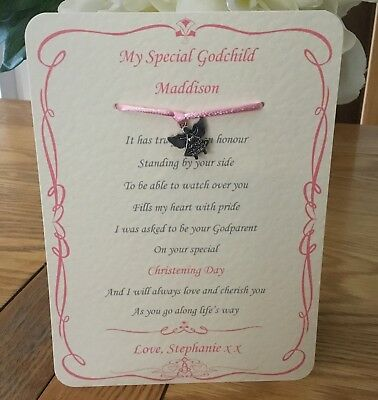 Godparent gift keepsake ,christening baptism  godchild personalised, boy or girl