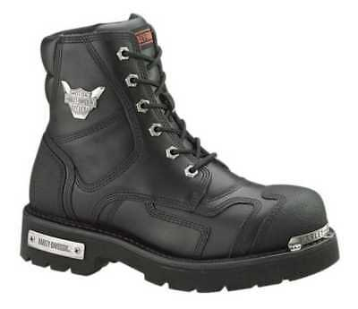 Harley-Davidson Men's Stealth Motorcycle Boots. Patch Lace Black Riding D91642