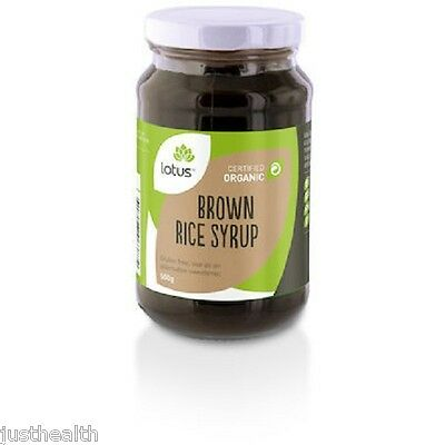 1kg Organic Brown Rice Syrup (2 x 500g bags) by Lotus Brand